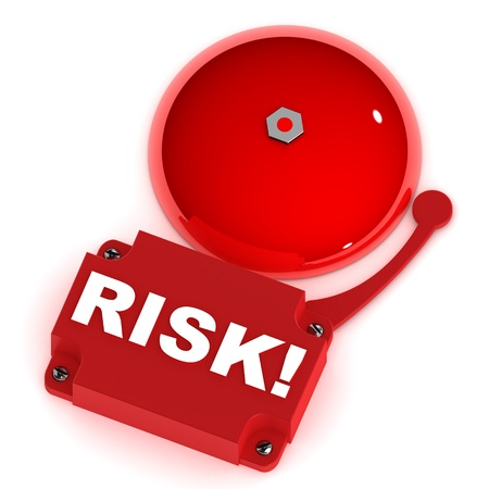 burglar alarm: A Colourful 3d Rendered Risk Alarm Bell