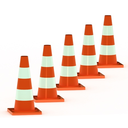 A Colourful 3d Rendered Traffic Cone Illustration Stock Illustration - 9357185