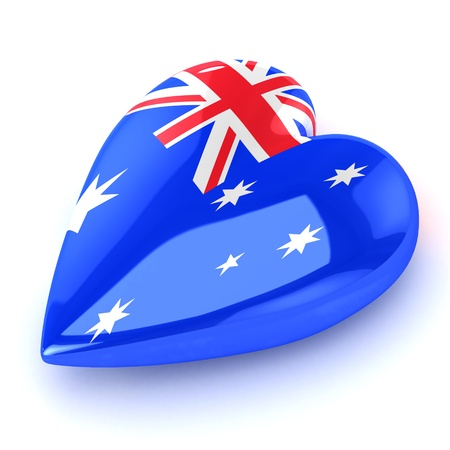 A Colourful 3d Rendered Australian Heart Illustration Stock Illustration - 9459213
