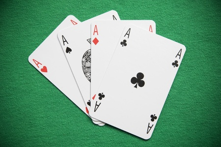 dealt: A Colourful Photo of a Hand of Aces