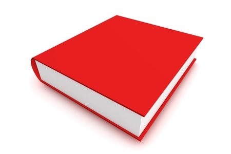 A Colourful 3d Rendered Red Book Illustration illustration