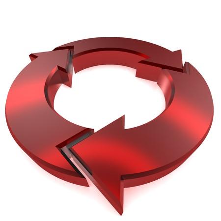 A Colourful 3d Rendered Circular arrow Illlustration Standard-Bild