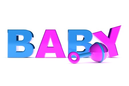A Colourful 3d Rendered Baby Concept Graphic Illustration illustration