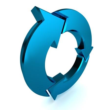 A Colourful 3d Rendered Blue Process Arrow Illustration Standard-Bild