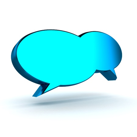 conversing: A Colorful 3d Rendered Speech Bubbles Illustration