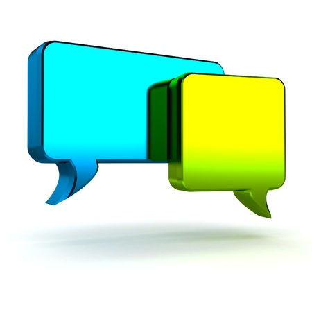 conversing: A Colourful 3d Rendered Speech Bubble Illustration