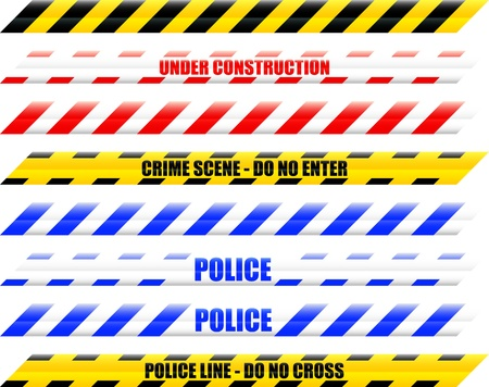 enforcement: A Colourful Selection of Seamless Vector Warning Tape