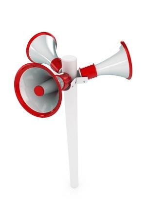 music loudspeaker: A Colourful 3d Rendered Loudspeaker Post Illustration