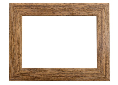A Colourful Photo of an Isolated Wooden Picture Frame Stock Photo - 12144858