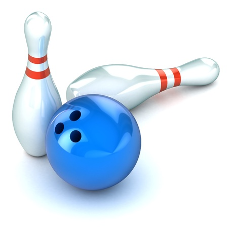 A Colourful 3d Rendered Ten Pin Bowling Illustration illustration