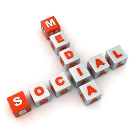 A Colourful 3d Rendered Social Media Crossword Illustration Stock Illustration - 15323031