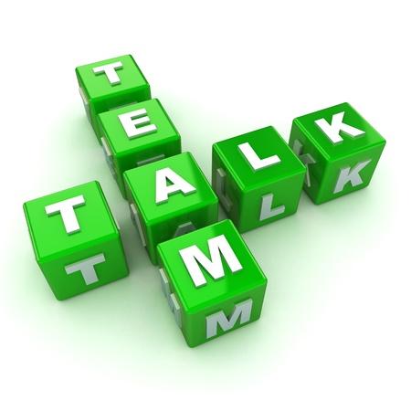 A Colourful 3d Rendered Team Talk Concept Illustration Stock Illustration - 15544683