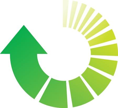 色鮮やかな緑の円形矢印の図  イラスト・ベクター素材