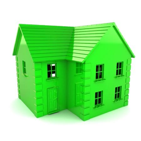 pipe dream: Un 3d colorido rindi� la ilustraci�n Verde Concept House