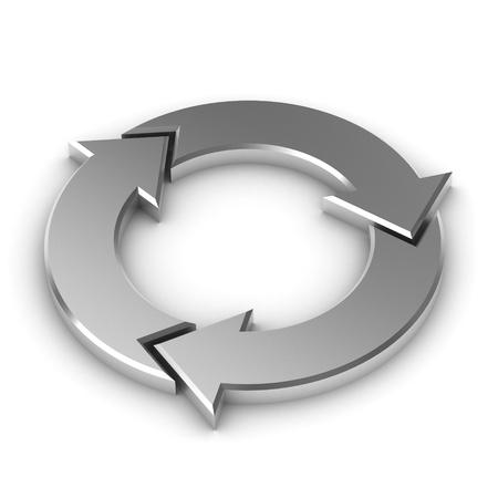 A Colourful 3d Rendered Circular Arrow Illustration Standard-Bild