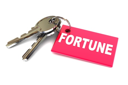 gain access: A Colourful 3d Rendered Keys To Your Fortune Concept Illustration Stock Photo