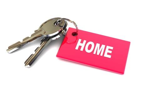 keyring: A Colourful 3d Rendered Keys to Home Concept Illustration