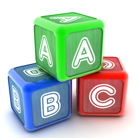 alphabet blocks: A Colourful 3d Rendered Illustration of ABC Building Blocks