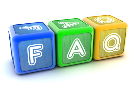 Colourful 3d Blocks spelling out FAQ photo