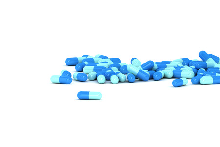 An Illustration of a Group of Blue Pills on a white background illustration