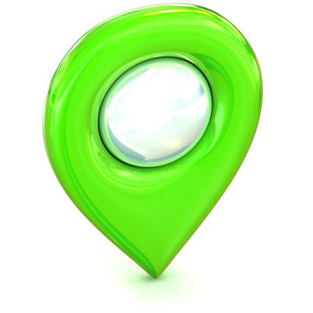 A Colourful 3d Rendered Map or GPS Marker Icon photo