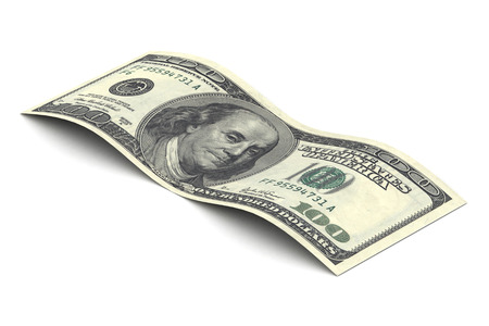 ben franklin money: A Colourful 3d Rendered Illustration of a Hundred Dollar Bill Stock Photo