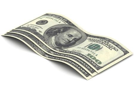 ben franklin money: A Colourful 3d Rendered Illustration of a Hundred Dollar Bills