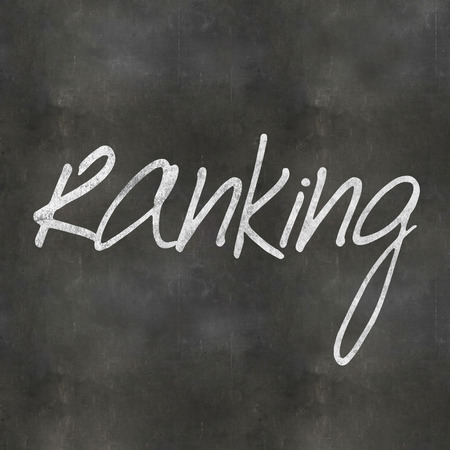 web crawler: A Colourful 3d Rendered Concept Illustration showing Ranking written on a Blackboard