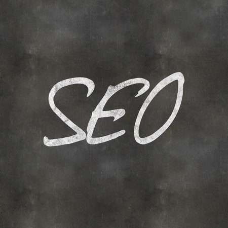 A Colourful 3d Rendered Concept Illustration showing Seo written on a Blackboard illustration