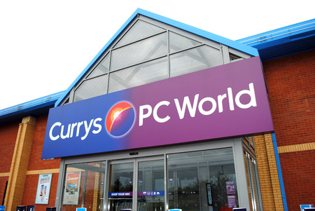 superstore: A Photo taken on the 16-5-2015 at Tamworth Currys PC World Superstore. Following the revamp of there high street stores Currys Pc World try and lure customers back from online sales Editorial