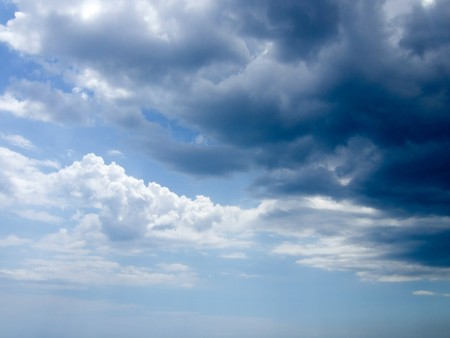 larus: Extremely clouds on sky above Black Sea