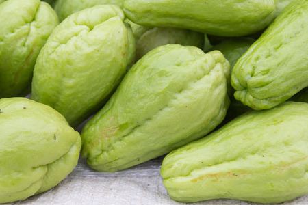 chayote: The close-up of fresh chayote.