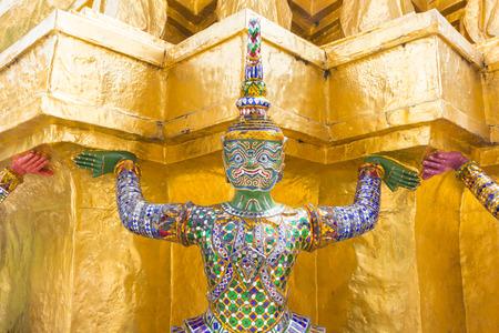 Giant at Wat Pra Kaew, Bangkok Thailand.