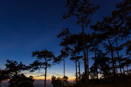loei: Beautiful sunset at Phukradung National Park, Loei, Thailand. Stock Photo