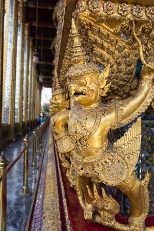garuda: Garuda of Wat Phra Kaew in Bangkok evening.