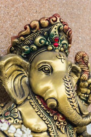 ヒンドゥー教の神ガネーシャのアイドル。 写真素材