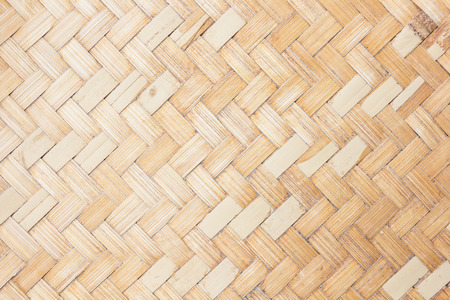 woven surface: close up woven bamboo pattern. Stock Photo