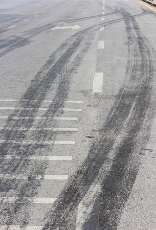タイヤのトラック道路背景を抽象化します。