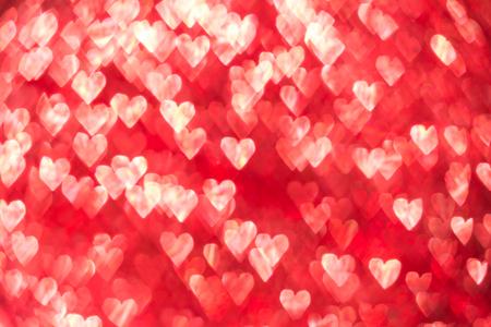 ハート背景のボケ味、バレンタインデーの背景。