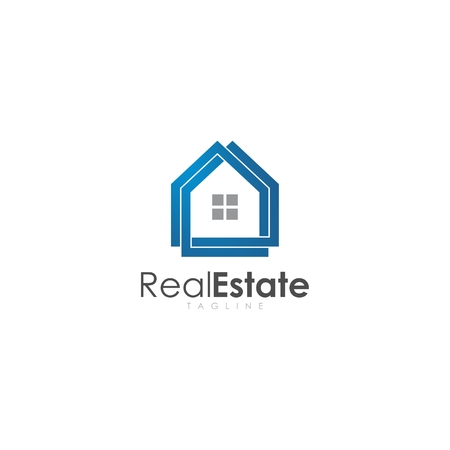 real estate logo design Illustration