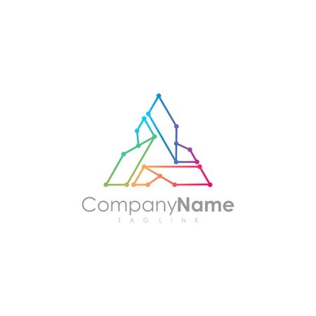 Tech logo design Illustration