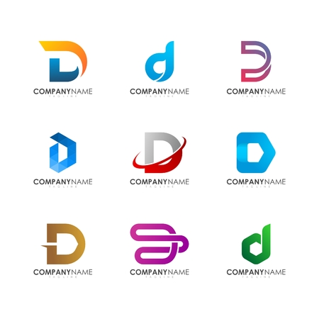 D logo design Illustration