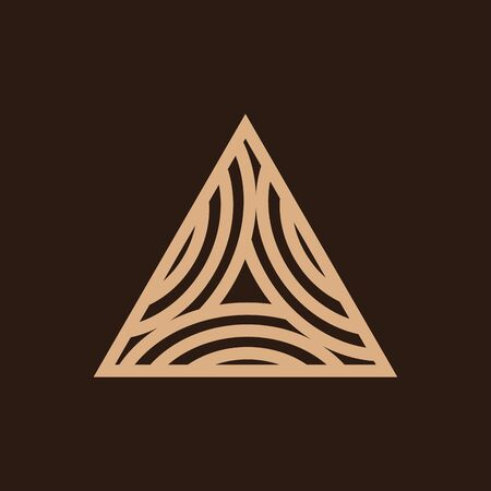 Triangle Timber Logo Design Simple Modern Carpentry Woodworking Royalty Free Cliparts Vectors And Stock Illustration Image 127338609