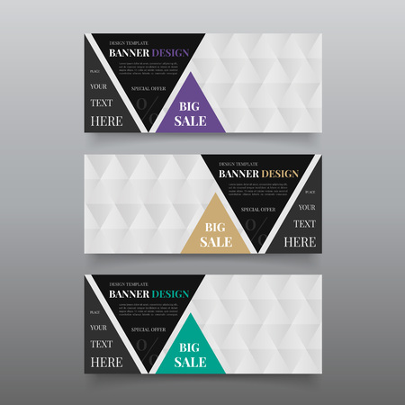 Triangle banner design templates.