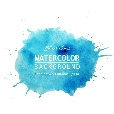 Watercolor splash banner design.
