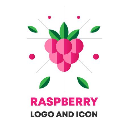 Raspberry icon, berry vector illustration.