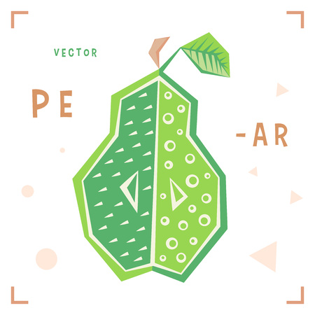 Cartoon pear vector. Ilustração