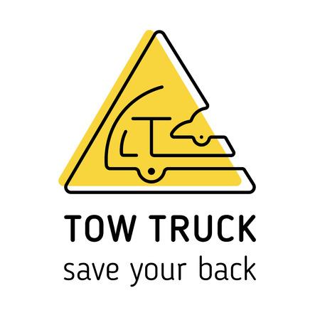 Towing truck icon vector. Ilustração