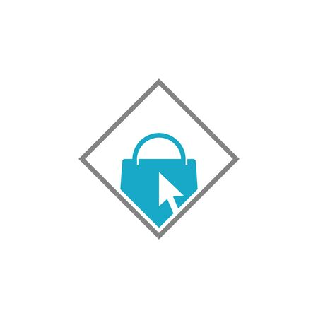 Shopping Bag Online Shop Marketplace Computer Buy Sell Logo Icon Symbol