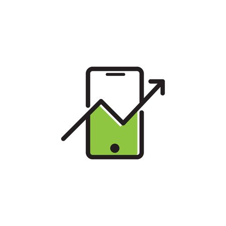 Shopping Online Shop Marketplace Buy Sell Statistic Phone Logo Icon Symbol